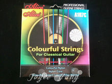 Alice A107C Colourful Clear Nylon Classical Guitar Strings 1st-6th Strings Free Shipping Wholesales