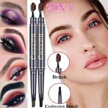 2 в 1 Карандаш для бровей Натуральный длительный макияж Профессиональная ручка для бровей и кисть Лучший!