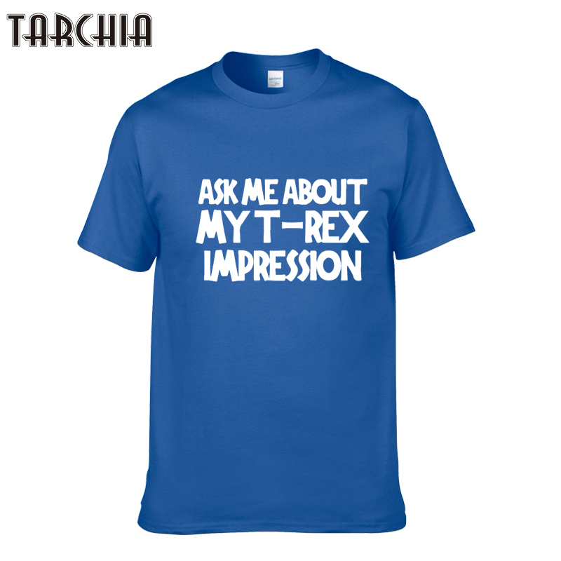 TARCHIA T-shirt Mens New Summer Letter Printed 100% Cotton Men T Shirt Designer Casual Fitness Clothing Tops Tees Homme