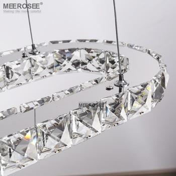 Hot Selling LED Crystal Hanglamp Moderne Ovale LED Suspension Opknoping Lamp Lustre Verlichting Voor Indoor Home Decoratie