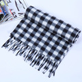 Bufanda de invierno de los hombres calientes de lujo marca clásica del enrejado de la imitación de la cachemira de la tela escocesa de tartán hombres bufanda gruesa bufanda caliente