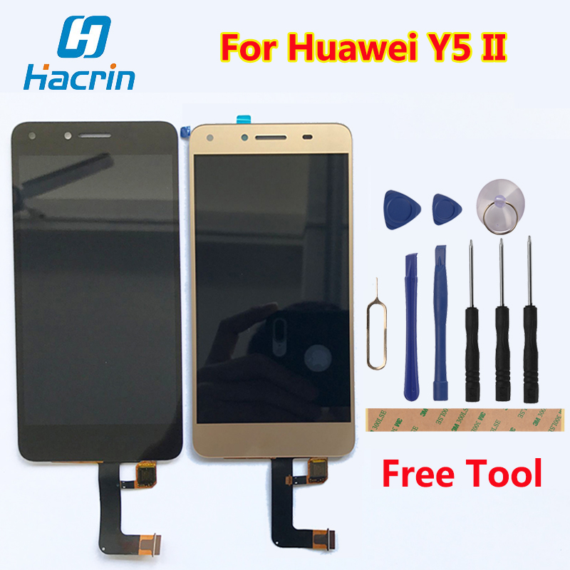 Hacrin For Huawei Y5 II LCD Display+Touch Screen 100% New High Quality Digitizer Screen Panel Replacement For Huawei Y5 2 Y5II