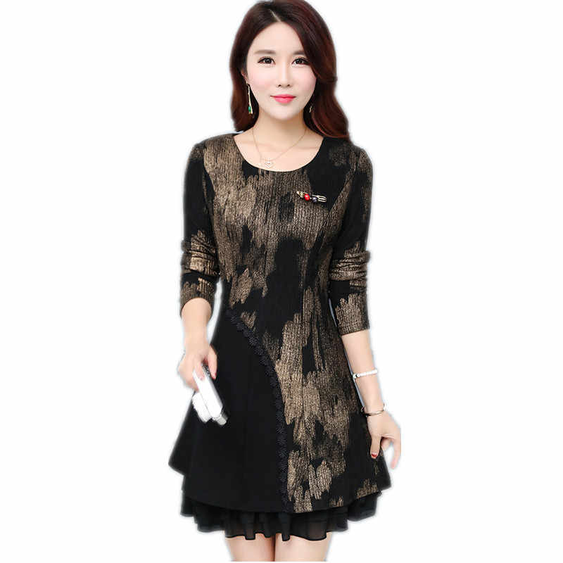 Spring Fashion New Modern Vintage Printed Elegant Dress Ethnic Style Luxury Women's Floral Print Flowy Party A Line Dress XH033
