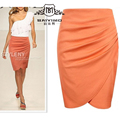OL Style Lady High Waist Skirt Fit Knee Length Straight Office Skirt Stretch Pencil Skirt