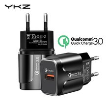 Ykz USB Charger Pengisian Cepat QC3.0 Universal Ponsel Chargeing Dinding Charger Usb Adaptor untuk Iphone Samsung Huawei QC 3.0(China)
