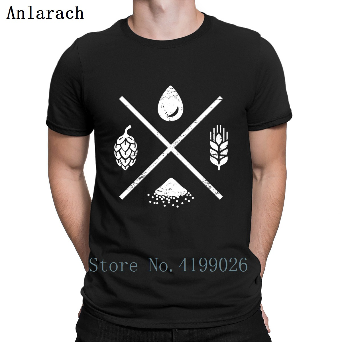 Retro Distressed Homebrew Beer Ingredients T Shirt Cotton Custom Famous Funny T Shirts Fashion Summer 2019 Clothing Standard