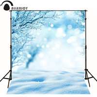 Allenjoy Photo Background Light Snow Twig White Vinyl Baby Backdrops For Photography 8 X 8 Ft