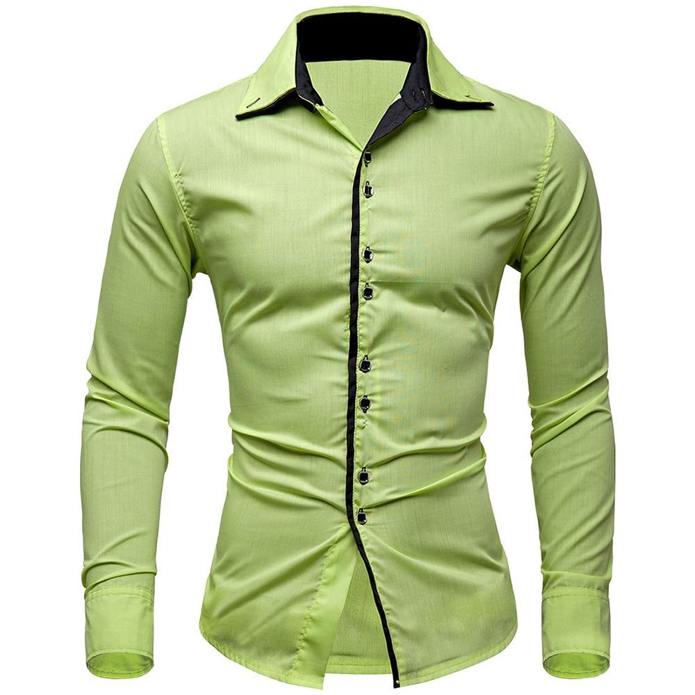 New Arrivals Men Shirt Brand British Style Long Sleeve Male Slim ...