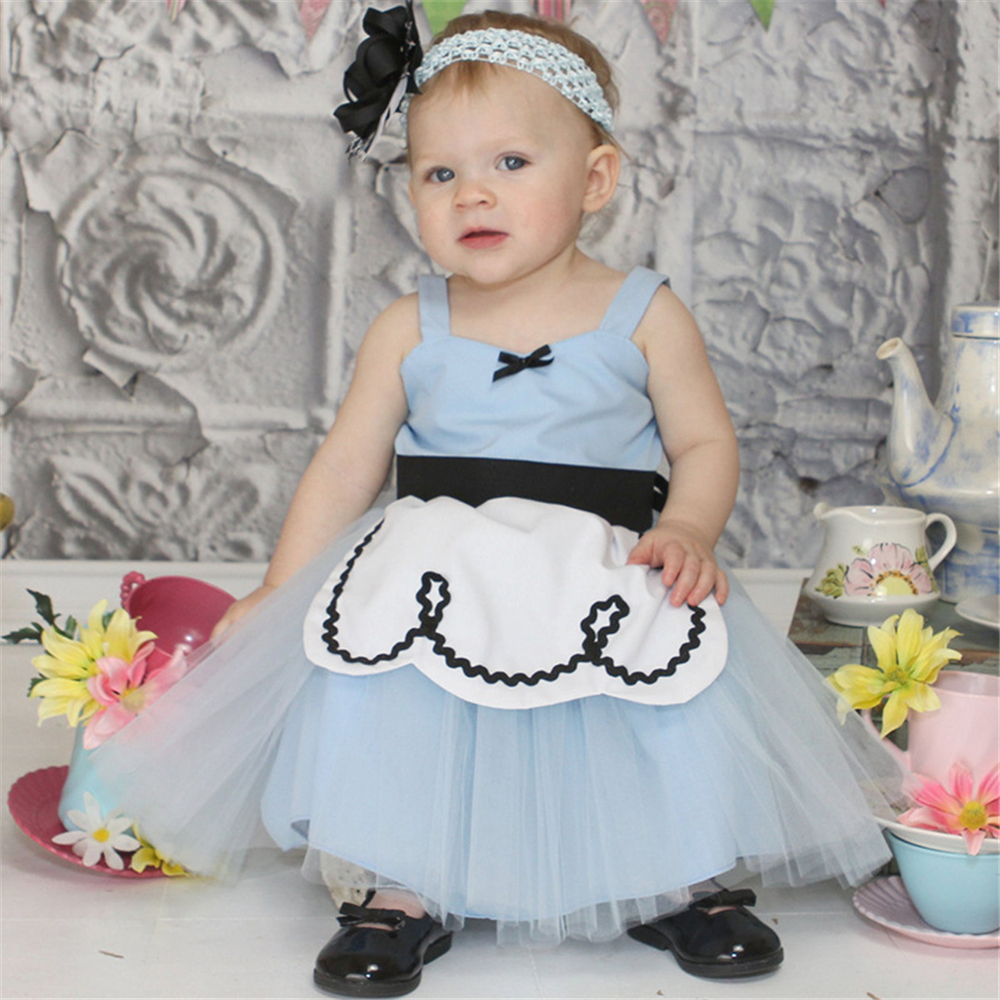 0 6 Year Summer Infants Girls Princess Alice Costume Kids Cinderella Rapunzel Snow White Baby Girl Birthday Party Prom Dress in Dresses from Mother Kids