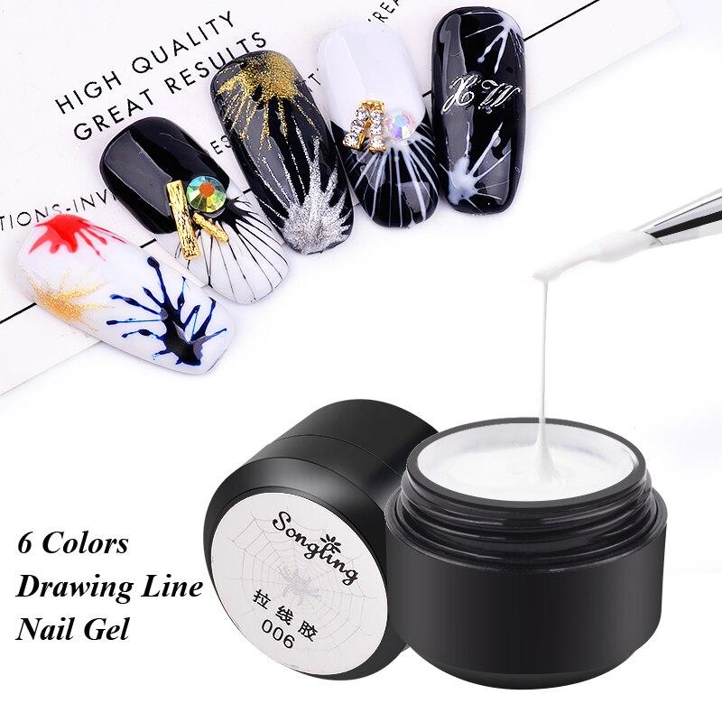 1 шт., Гель лак для ногтей, проволочный, точечный, для рисования, Гель лак для ногтей, блестящий, потянутый, Шелковый лак для маникюра, инструменты для дизайна ногтей Гель для ногтей      АлиЭкспресс