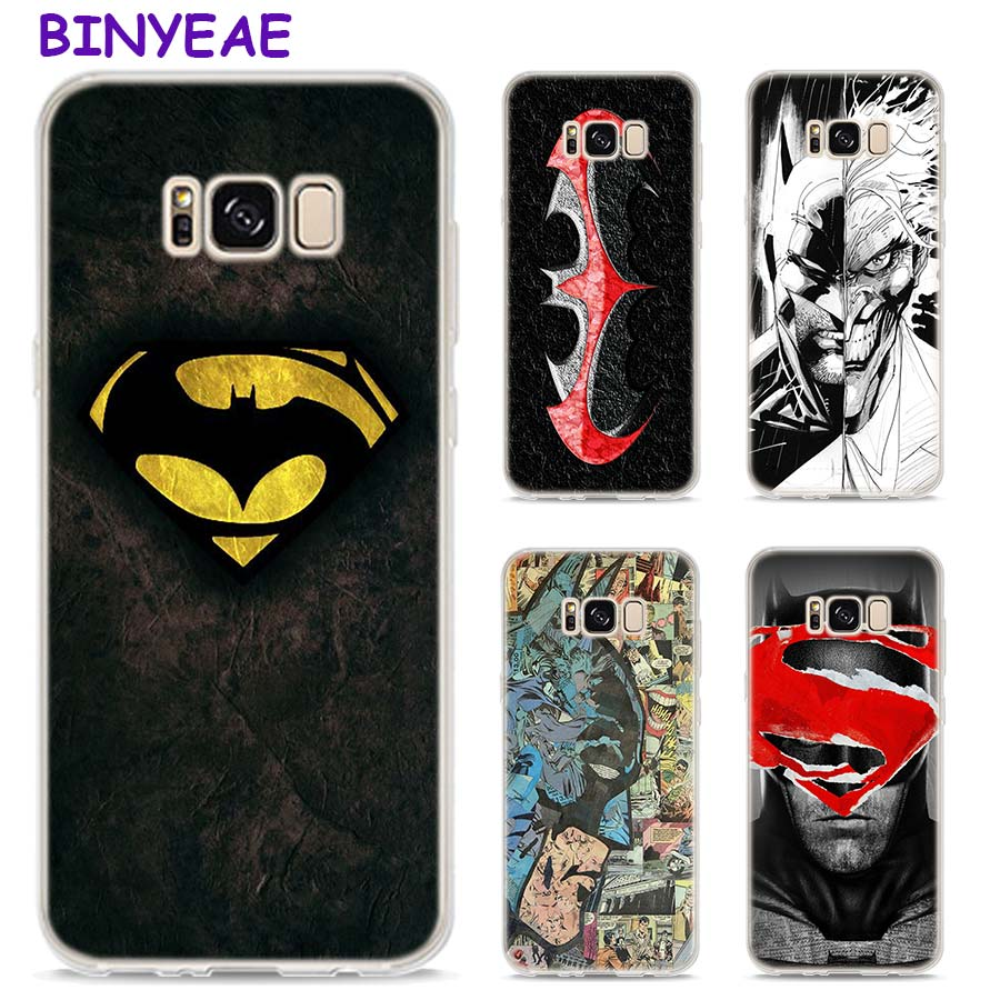 BINYEAE Batman Joker Comics Style Clear Soft TPU Phone Cases For Samsung Galaxy S9 S8 Plus S7 S6 S5 S4 Mini Edge