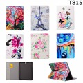 Fashion Flower Tree Series Card Slot Pu leather stand holder Cover Case For Samsung Galaxy Tab S2 9.7 SM-T810 T815 t810 with pen
