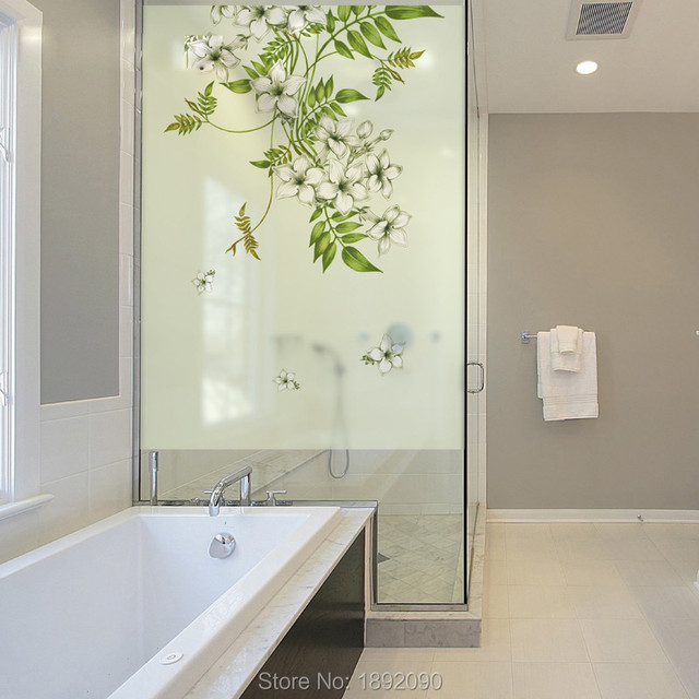 Translucent Bathroom Windows: Free Custom Made Size Decorative Privacy Frosted Stained