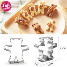 Kitchen Cookie Cutters Stainless Steel Bear Shape Animal Biscuit Cookie Cutters Fondant Pastry Decorating Baking Tools DIY Mold cheap CAKE ESWEET CAKE DECORATING TOOLS BAKING Eco-Friendly Stocked CE EU LFGB Cookie Tools 1Set A lovely dessert 7*3 6*2cm
