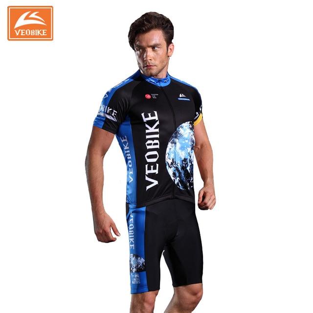 VEOBIKE Men s Cycling Set Sports Jersey Skin Suit Bodysuits 2017 Brand Pro  Team uniforme ciclismo 840808a12