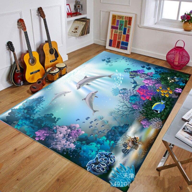 Household 3d Vision Carpet Underwater World Marine Biology