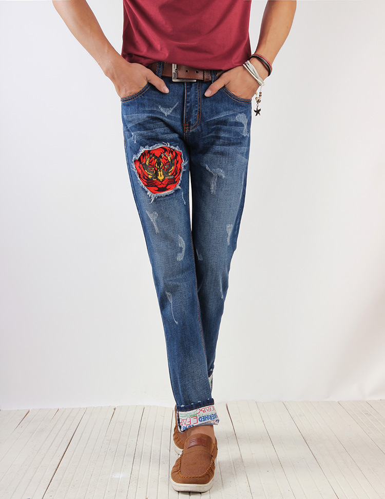 ФОТО High quality Free shipping 2016 Four Seasons models new Europe and American Popular youth brand men casual jeans Cheap wholesale