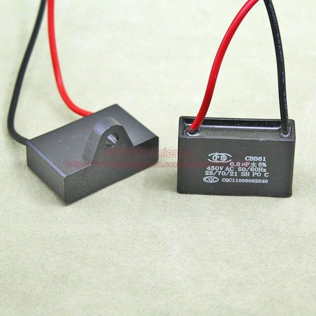 10 teile/los) CBB Kondensatoren 0,8 uf 450 v AC CBB61 Metallisierte ...