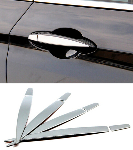 8pcs Stainless Steel Outside Door Handle Decoration Sequin Exterior ...
