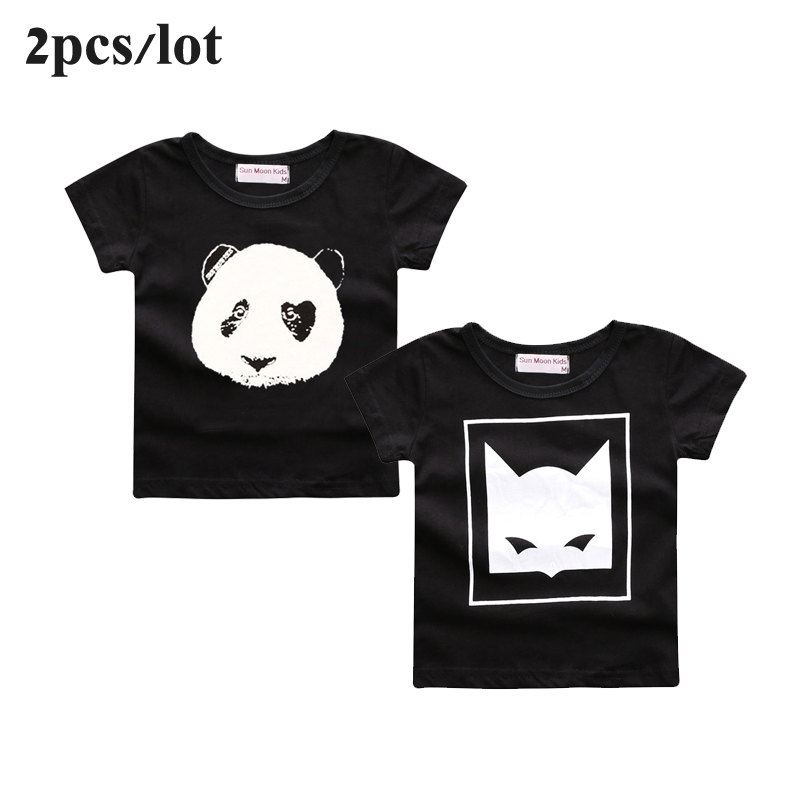 Sun Moon Kids 2PCS/Lot baby clothes cartoon fox pattern bebes boys girls t-shirt newborn boy tops tee infant girl clothing