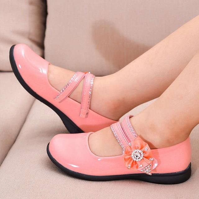 9b85dbe26 Novo partido meninas calçados infantis menina princesa vermelho de couro  sapato de bebê crianças de moda