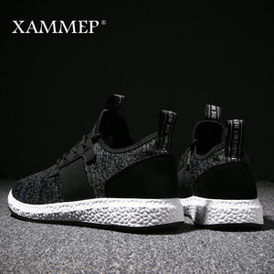 Image 5 - Кроссовки Xammep мужские сетчатые, повседневные брендовые сникерсы на плоской подошве, лоферы без застежки, дышащие, большие размеры, весна осень