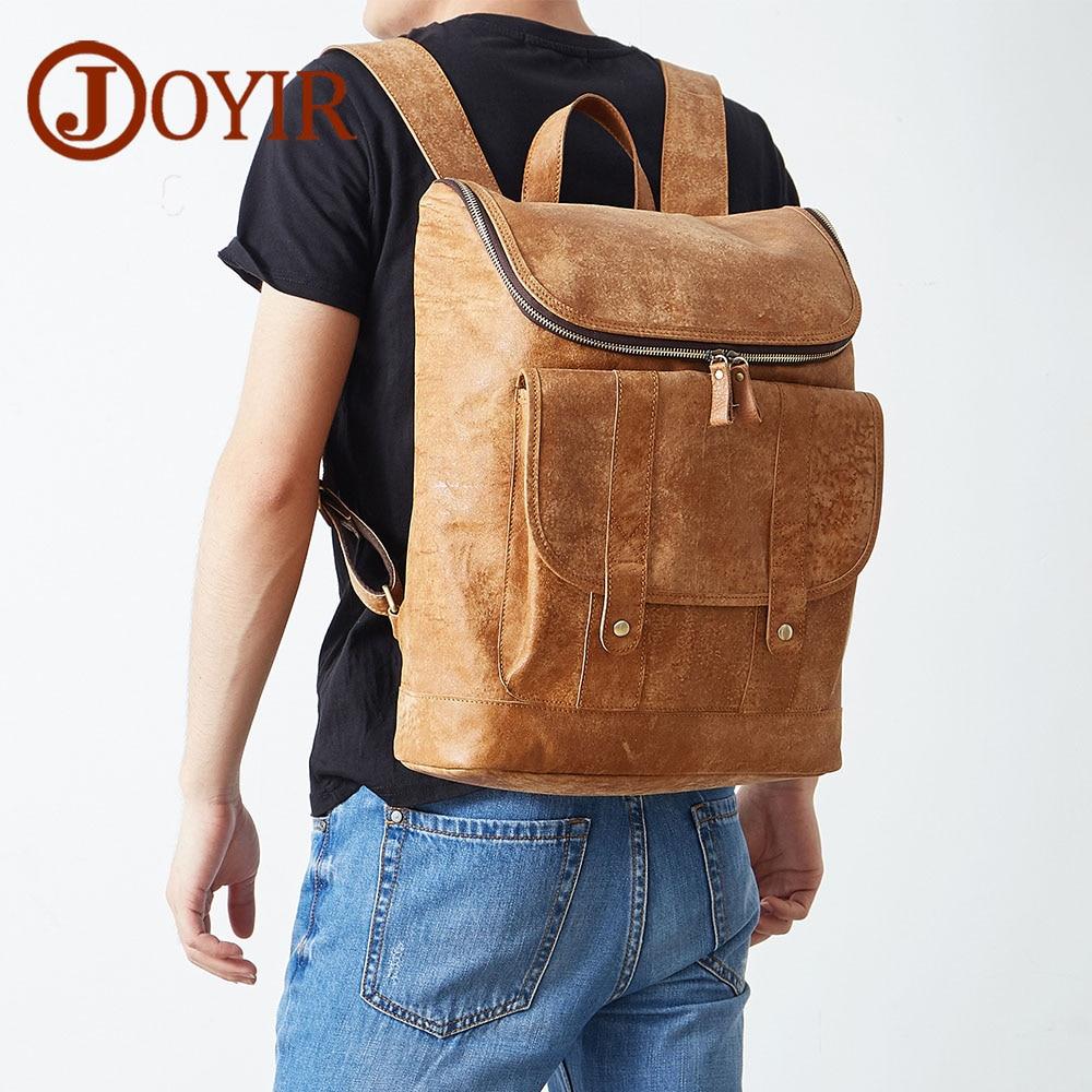 JOYIR Designer Genuine Leather Men Backpack Male Travel Backpack School bag Men Laptop Backpacks Pocket Casual Masculina new fashion backpack women backpacks men s travel bags casual backpack men laptop backpacks luxury designer men s school bag