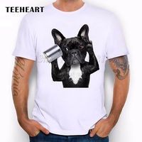 Naughty Black Dog Animal Cute French Bulldog Funny Joke Men T Shirt Tee