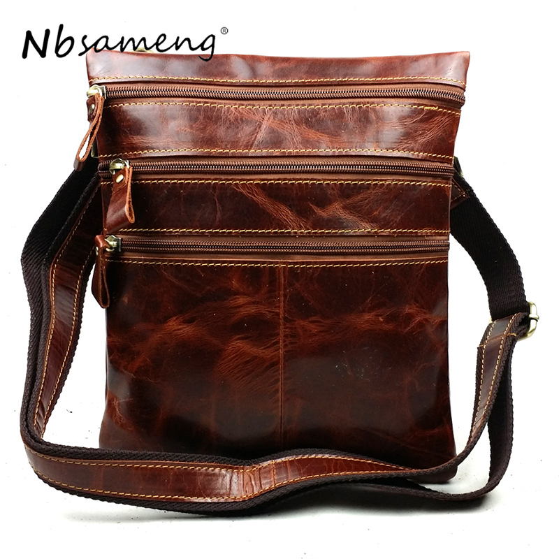 NBSAMENG New Cow Genuine Leather Messenger Bags Men Casual Travel Business Shoulder Bag for Man Sacoche Homme Bolsa Masculina cow genuine leather messenger hand bags men casual travel business crossbody shoulder bag for man sacoche homme bolsa masculina