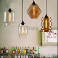 Retro edison pingente de lustre De Vidro Da Arte Americano Village hotel Cafe Bar Restaurante personalidade criativa lâmpada âmbar Claro