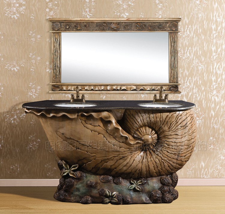 Antiqued Marble Countertops: Hot Sell Fashion Wash Basin Bathroom Cabinet Antique Marble Countertop Wash Basin Floor Bathroom