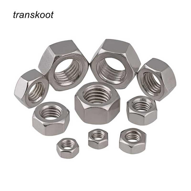 100 Uds DIN934 m1.2 m1.4 m1.6 m2 m2.5 m3 m4 m5 m6 m8 hexagonal de acero al carbono tuerca hexagonal perno m1.2 m1.4 m1.6 m2 m2.5 m3 m4 m5 m6 m8