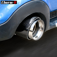 3″/3.4″ Car Styling Exhaust Tip Carbon Fiber Muffler Pipe JCW Style for BMW Mini Cooper R55 R56 R60 F55 F56 F60 Accessories