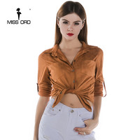 Missord 2019 Fashion long sleeved button TOPS FT3214