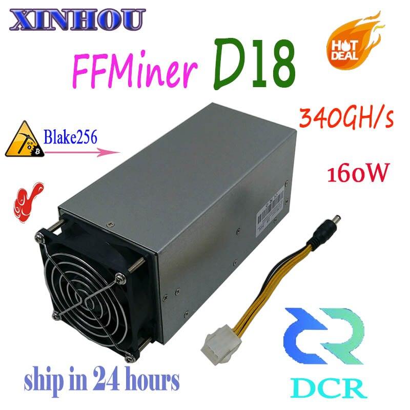 ASIC MINER FFMiner D18 340GH/S 160W Blake256 DCR miner More economical than antminer DR3 DR5 S9 Innosilicon D9 A9 whatsminer D1ASIC MINER FFMiner D18 340GH/S 160W Blake256 DCR miner More economical than antminer DR3 DR5 S9 Innosilicon D9 A9 whatsminer D1