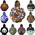 Das mulheres dos homens jaqueta de impressão 3D coruja brasão / Super Mario / símbolos aves borboletas trippy jacket Streetwear crewneck Harajuku camisola