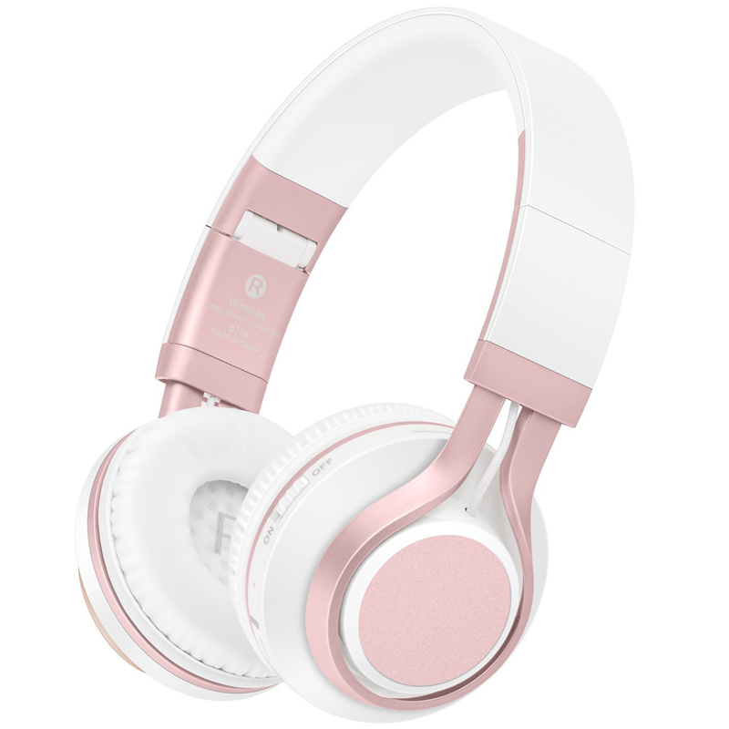 Rose Gold Wireless Bluetooth Earphones Headset Stereo Headphones Earphones With Microphone Tf Card For Mobile Phone Music Girls Aliexpress