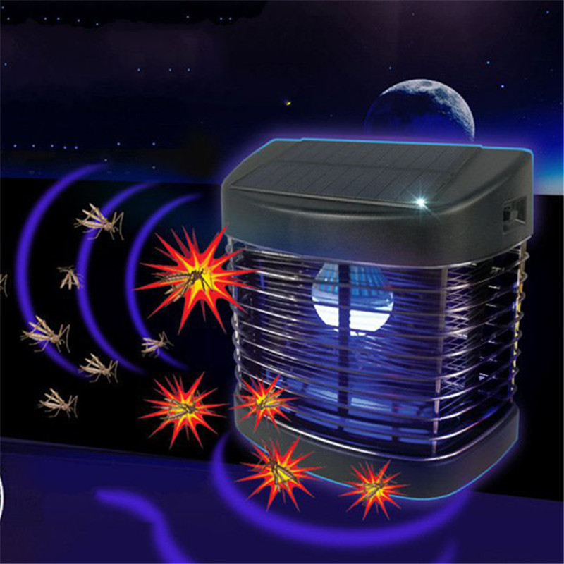Outdoor Garden Light LED Solar Panel Mosquito Killer Dual-Use Lamp No Radiation Courtyard Garden Catch Mosquito Trap Lighting electric shock mosquito killer lamp led solar powered camp tent bulb light no radiation mosquito trap waterproof outdoor decor