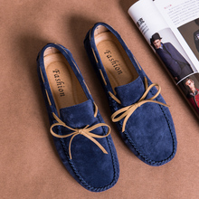 Men's Casual Suede Slip On Driving Moccasins Penny Loafers Flat Boat Shoes Men Driving Shoes new men s octopus leather penny loafers crocodile slip on driving shoes mens casual shoes moccasins business boat shoes branded