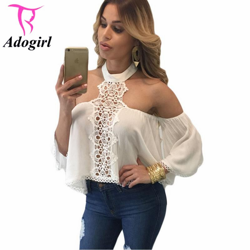 8ba2dbfe8c5 2016 Women Summer Style Sexy Off Shoulder Tops Newest Woman Camisole White  Chocker Neck Bare Shoulders Flare Crop Top H50-in Camis from Women's  Clothing & ...