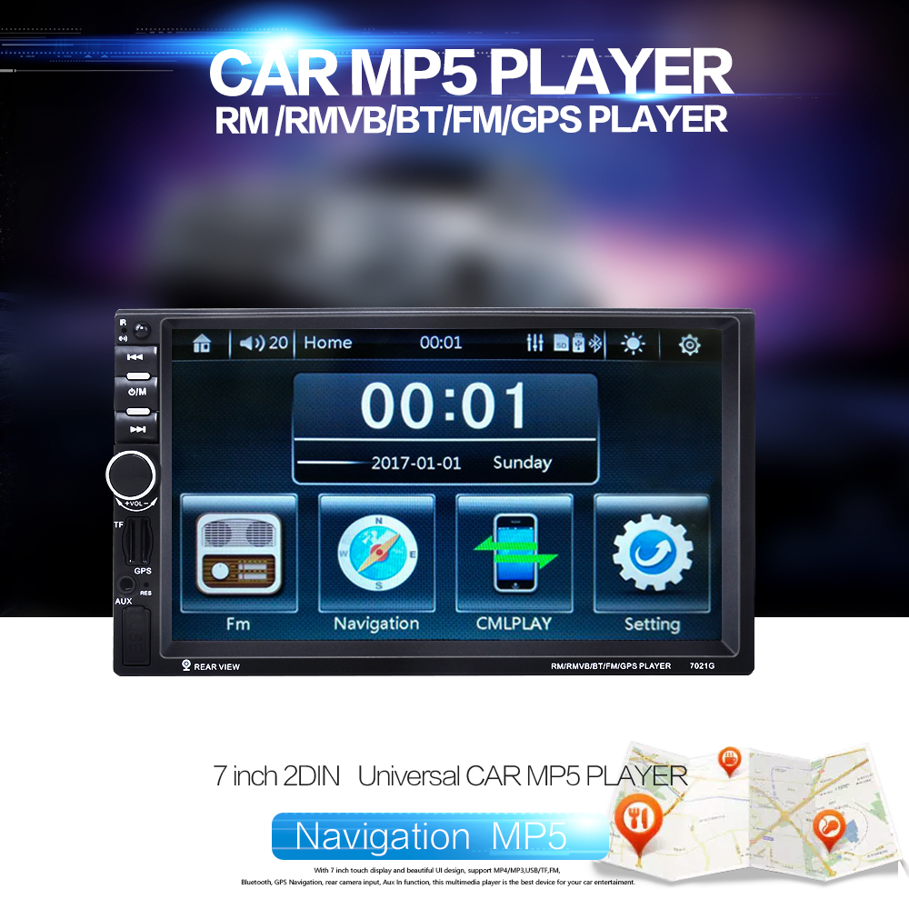 All kinds of cheap motor 7021g car mp5 player in All B
