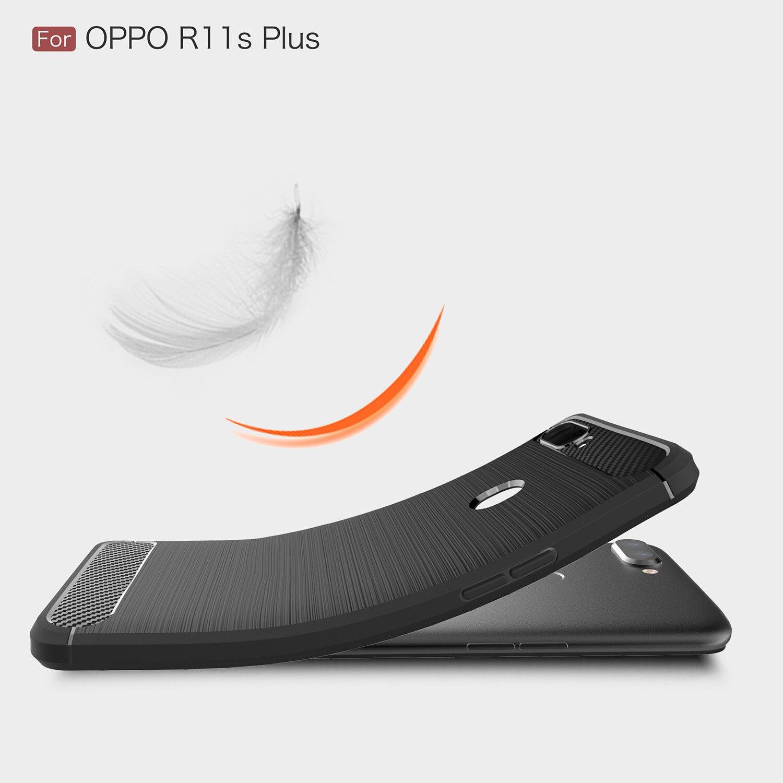 TPU Case for Oppo R11s Plus Dual SIM TD-LTE APAC CPH1721 Carbon Fiber Cover for Oppo R11 s Plus R11sPlusPhone Cases