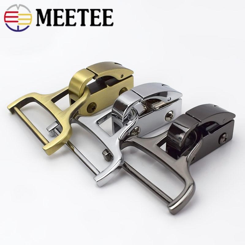 Meetee 4 قطع معدنية كليب أبازيم حقيبة الجانب entrainment حزام مشبك diy حزمة الأجهزة الحرف الديكور الاكسسوارات F2-14