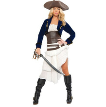 2016 Superior quality Cosplay Halloween costume pirate adult pirate costumes for women  Cosplay clothing Halloween costume