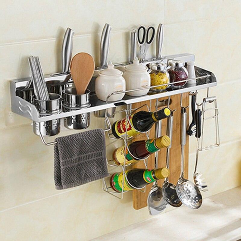 multi funzione in acciaio inox cremagliera della parete gancio accessori per la cucina con 2