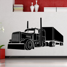 Wall Decals Long Vehicle Car Automobile Wall Sticker Big Truck Room Decoration Boys Bedroom Decoration Poster Mural W321 все цены
