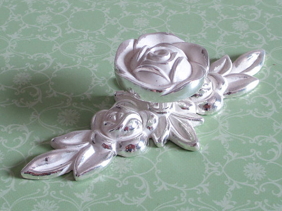 Shabby Chic Dresser Drawer Knobs Pulls Handles Silver