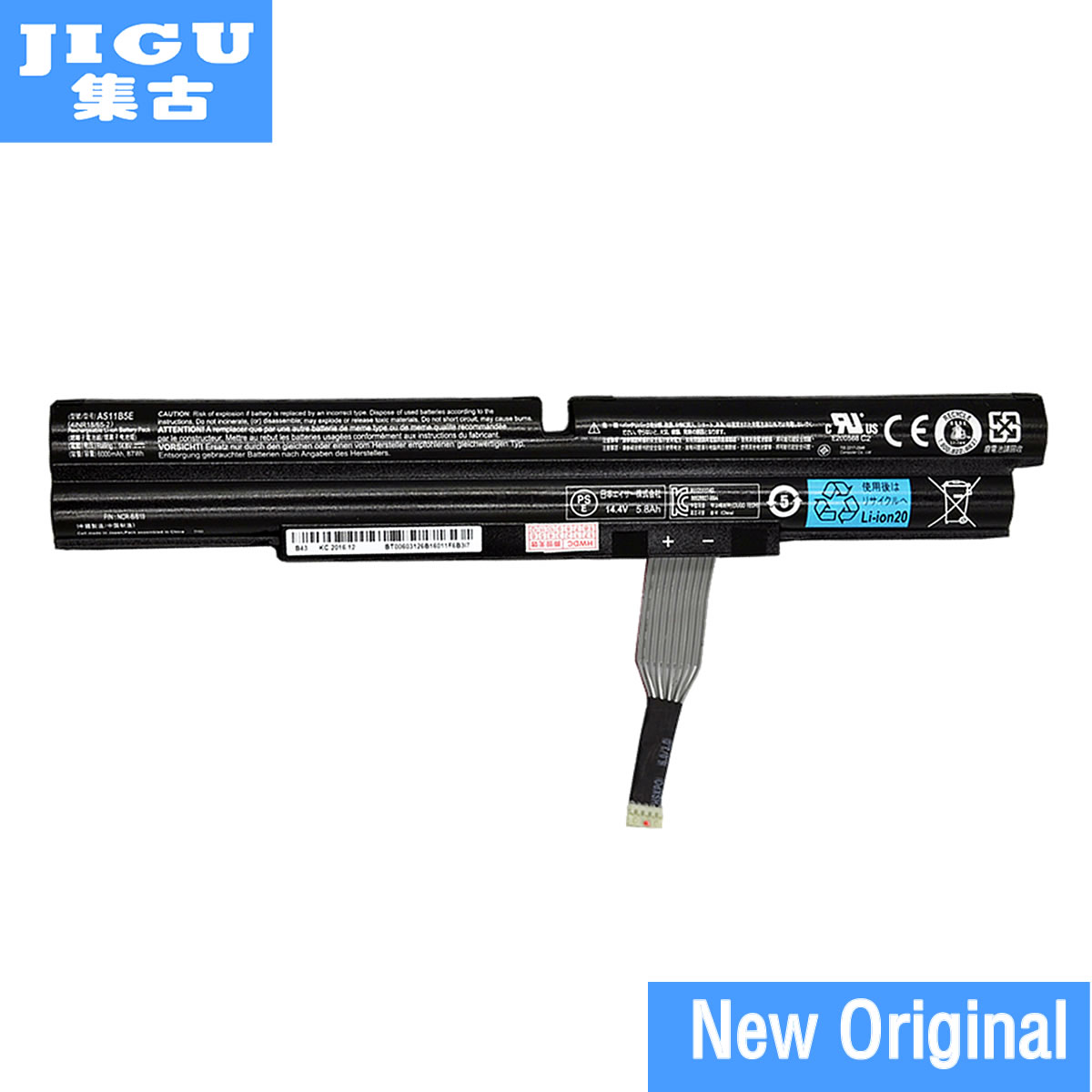 JIGU AS11B5E Original Laptop Battery For Acer Aspire Ethos 5951 8950 8951 5943G 5951G 8943G 8951G 14.8V 6000MAH 87WH pitatel bt 086 аккумулятор для ноутбуков acer aspire 5943g 5950g 8943g 8950g