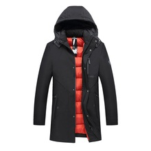 -30 Degree Temperature 2017 New Arrival Winter Parka Men Hooded Cotton Padded Long Thick Warm Casual Zipper Winter Jacket Men