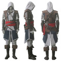 2016High quality assassin creed Edward iv 4 black flag Kenway Cosplay costume complete custom free shipping